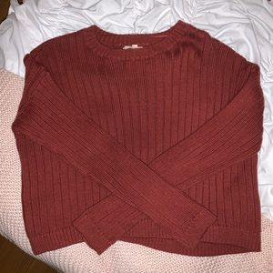 PacSun Rust Color Cropped Sweater